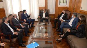 Manzur y Lichtmajer recibieron al ministro de Educación de la Nación Nicolás Trotta